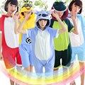 Pijamas de Verão de Manga Curta Macacão 100% Algodão Animal Dos Desenhos Animados Anime Bonito Do Dinossauro Pikachu Ponto Ali Panda Rilakkuma Pijama
