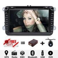 Android 7,1 8 дюймов Автомобильный dvd плеер gps навигация автомобильное радио для VW/Golf/Tiguan/Skoda/Seat/Altea/Skoda Wifi Bluetooth Камера заднего вида