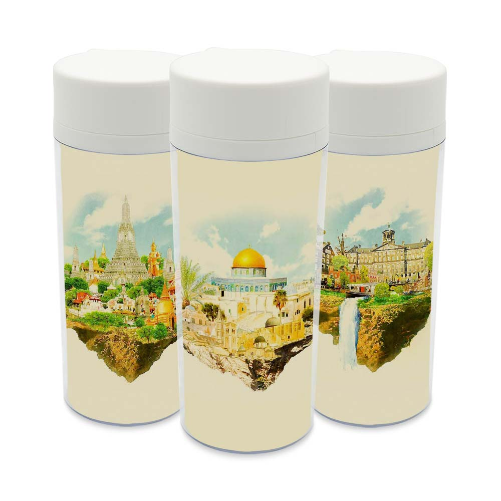 Wide Mouth Modern BPA Free Plastic Insulated Watercolor ...