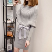 2017 autumn and winter in the long paragraph dress sweater dress