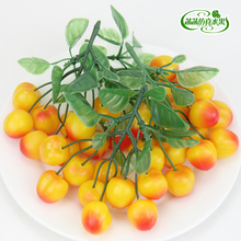 Artificial cherry plastic fruit cherry home kitchen cabinet model decoration tivoli audio model two cherry metallic taupe m2tpe