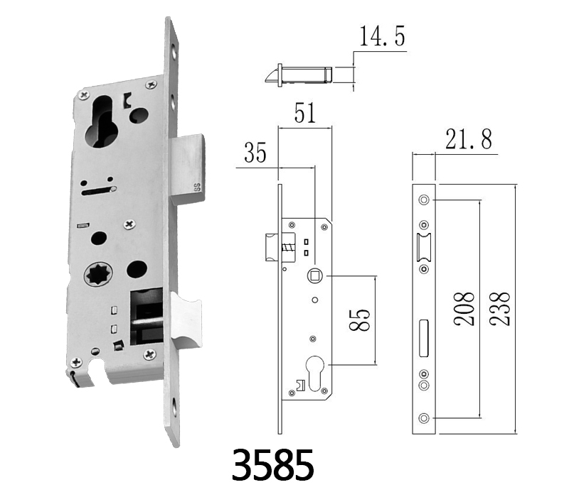 Lock Electronic with Deadbolt