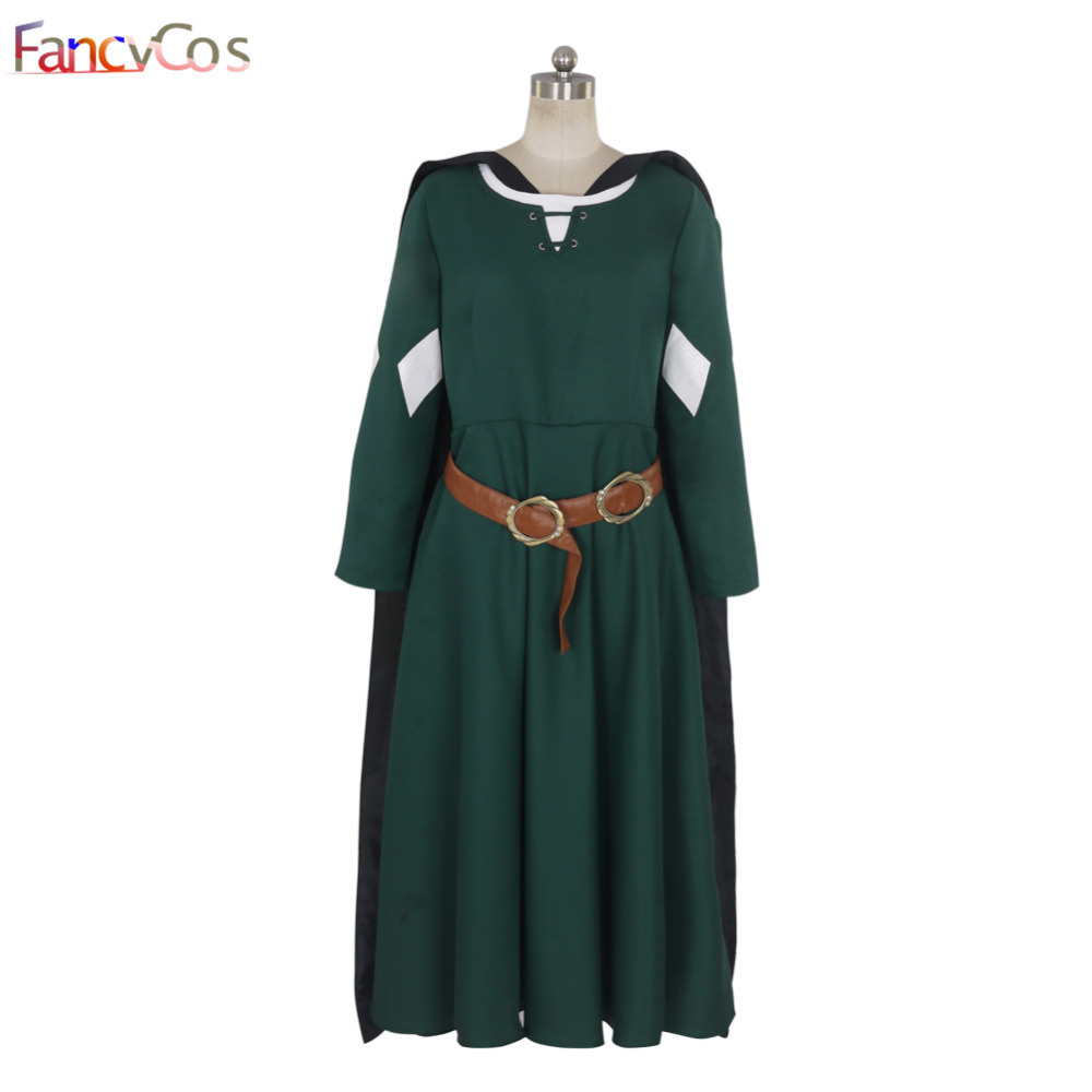 Halloween Women's The Chronicles of Narnia Susan Party Dress Cosplay Costume High Quality Custom Made