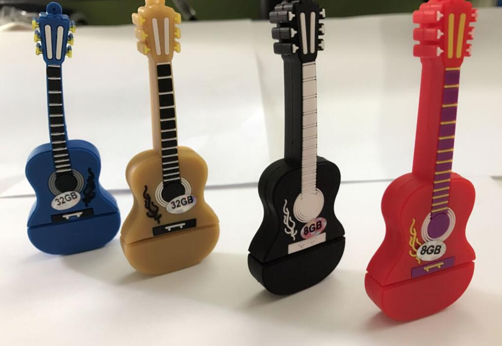 High speed colourful guitar usb flash drives thumb pendrive u disk usb creativo memory stick gift /souvenir/Wholesale S331