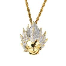 Vegeta Gold Diamond Pendant Necklace w/ Chain