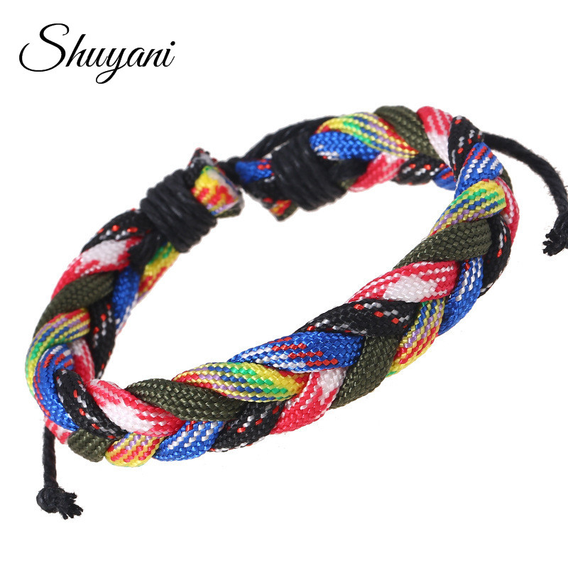 5PCS Bohemia Style Colorful Handmade Braided Friendship Bracelets Men Women Jewelry Adjustable Bracelets&Bangles