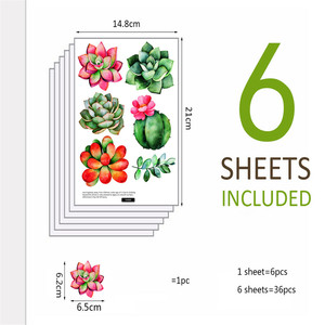 Image 5 - נייד Creative קיר מדבקות חמוד צמח מודבק עם דקורטיבי קיר חלון קישוט vinilos decorativos para פרדס