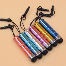 цена на Portable 100pcs/lot Free Shipping Stylus Pen With Lanyard for Capacitive Touch Screen Pen Mobile Phones Tablet Universal Pens