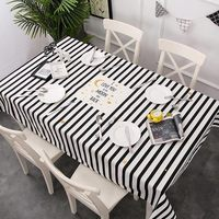 Simple Style Tablecloth Print oilcloth Waterproof White Table Cover For Kitchen Home Decor Linen Rectangular Table Cloth 1 PC