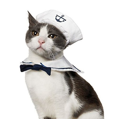 Namsan Puppy and Cat Cosplay Peacock Costume New pet clothing Dog Cat Hat Sailor suit Navy Cloak ...