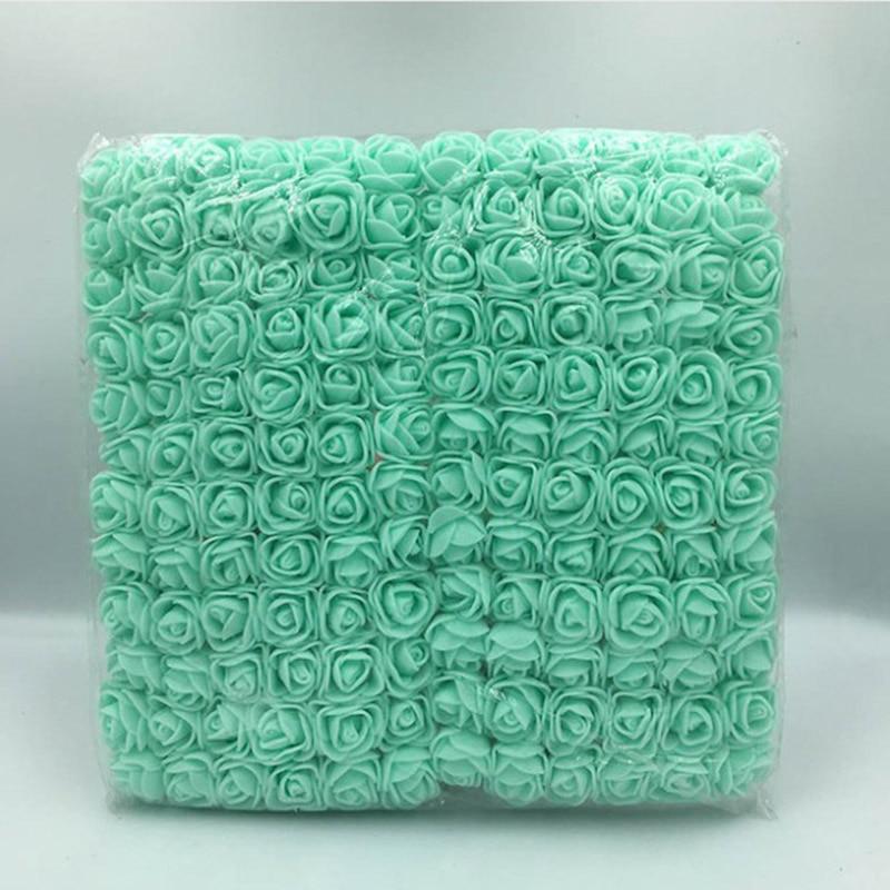 144 шт 2 см мини-розы из пенопласта для дома, свадьбы, искусственные цветы, декорация для скрапбукинга, сделай сам, венок, Подарочная коробка, дешевый искусственный цветок, букет - Цвет: 14