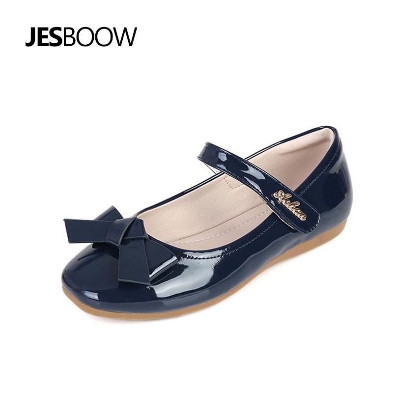 Children Leather shoes Breathable casual shoes Girls sweet Bowtie princess Ballet dance Wedding Party sandals