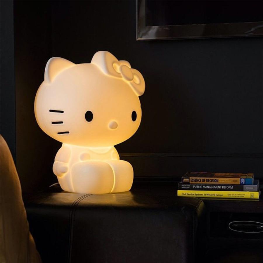 hello kitty led night lights kids children baby bedroom. Black Bedroom Furniture Sets. Home Design Ideas