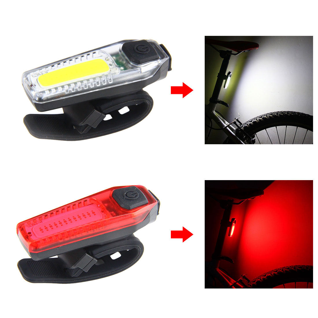 New 120lm Bike Bicycle Tail Light Waterproof Cycling Tail Lamp Riding Rear Light Outdoor LED Light USB Backpack Clip-on Lighting