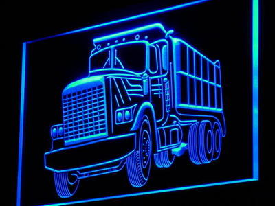 i937 Dump Truck Car Display Bar NEW Gift Light Sign On/Off Swtich 20+ Colors 5 Sizes