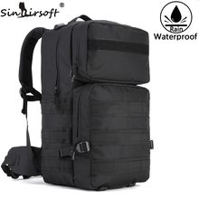 SINAIRSOFT 55L Hiking Camping Travel Tactical backpack 17 Inch laptop Molle Climbing Bags Waterproof Rucksack Sports Backpack