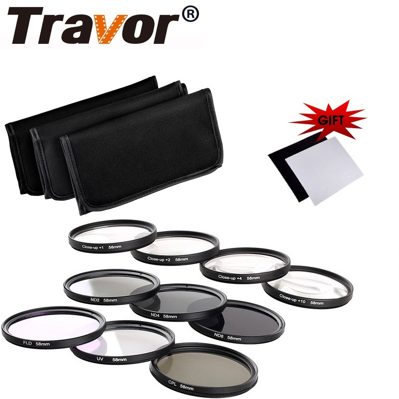 Travor ND Filter (2+4+8)+UV+CPL+FLD + Macro Close Up(+1+2+4+10) Polarizing Filter For CANON Nikon Sony Pentax EOS Rebel DSLR