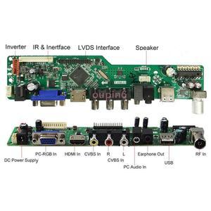 Image 3 - Kit für LP156WH4 TL panel 1366X768 Controller board Kit remote 40pin LVDS LG display TV RF AV USB HDMI DVI VGA LED LCD