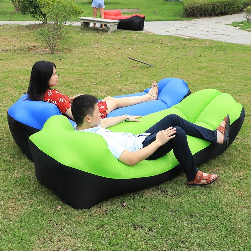 2020 Trending Good Quality Garden Sofa Fast Inflatable Air Sofa Bed Infaltable Air Bag Lazy Bag Beach Lounge Sofa Chair Seat