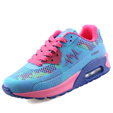 2017 New Summer Women Running Shoes Height Increasing Cheap Women Sports Shoes Breathable Lace-up Ladies Outdoor Shoes