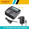 Lvsun universal dc & carregador de bateria da câmera do carro para li92b li-92b li-90b li90b bateria para olympus xz-2 90b, SH-50, SH-1, SP-100