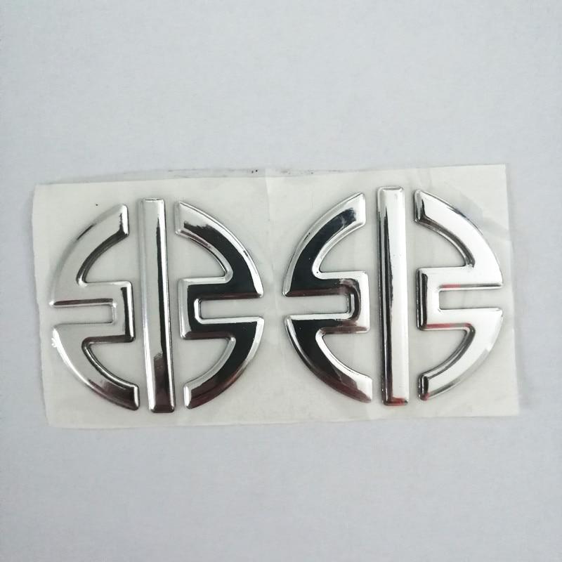 Emblems Stickers Decals 3D Reflective Motorcycle Logos For KAWASAKI H2 NINJA H2R Silver Color