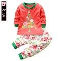 Marca SetsnToddler Boy Ropa de La Muchacha Larga del Algodón de la Manga del bebé Recién Nacido Ropa Infantil crianças Definir roupas de bebe