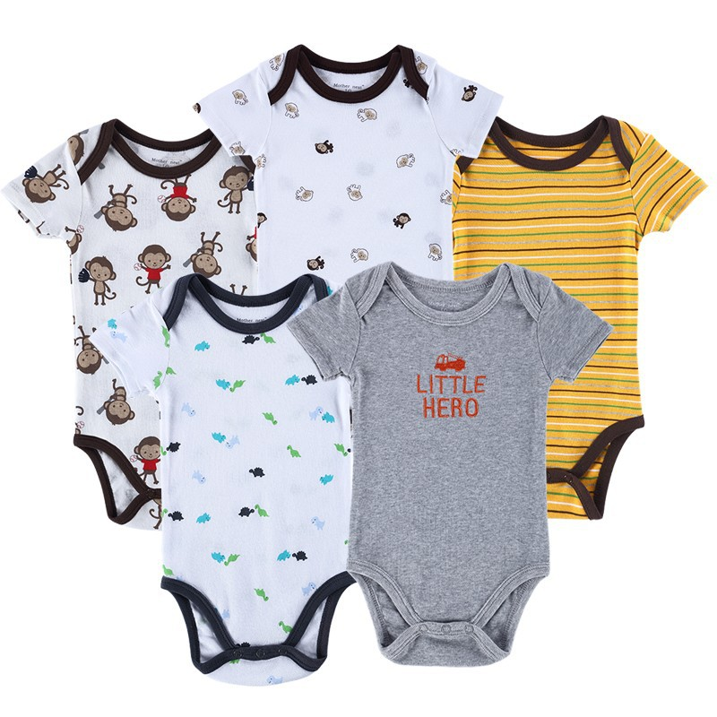 f87a29a00 جديد 2017 ماركة الجسم الطفل الرضيع الطفل داخلية قصيرة الأكمام الأطفال القطن  المولود صبي وفتاة الملابس مجموعة