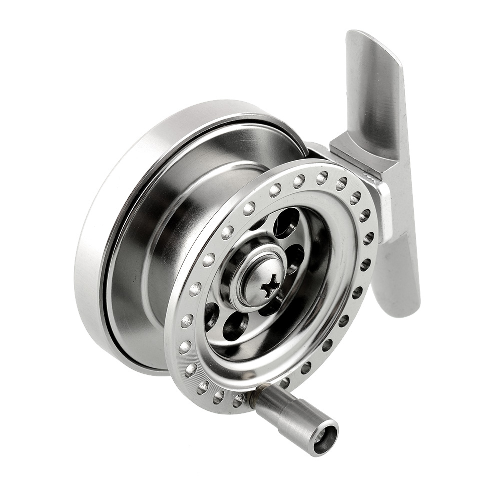 Aluminum ice fishing reel for super strong sea ice fly for Ice fishing reels