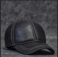 DL 10559 MAN Cowhide Leather Men S Golf Hat Leather Casual Baseball Cap Hot Sale Baseball