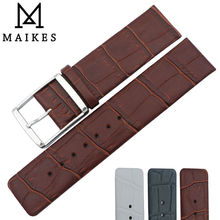 MAIKES New Arrival Genuine Leather Watch Band 16mm 18mm 20mm 22mm High Quality Universal Model Strap For CalvinKlein