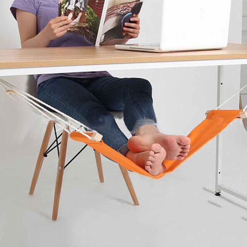 Portable Office Desk Feet Hammock Stand Adjustable Travel Sling Home Chair Foot Care Relax Pedal Tool TB Sale feistel desk feet hammock foot chair care tool the foot hammock outdoor rest cot portable office foot hammock mini feet rest