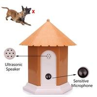 Ultrasonic Ultra Pet Dog Repeller Instrutor Dispositivo Anti Latido Bark Stop Dog bark controle À Prova D' Água Ao Ar Livre Acessórios