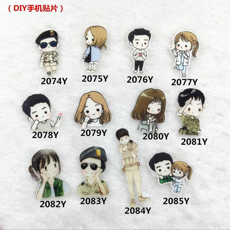 Cartoon Cute Cartoon Korean Drama The Descendants The Sun Of costumes Badge Pins Accessories XZ180
