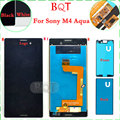 Brand NEW M4 Aqua LCD for Sony Xperia M4 Aqua LCD Display + Touch Screen Digitizer With Front & Back Adhesive Assembly