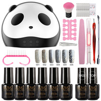 MIZHSE Manicure Kit Gel Varnish Set For Stamping Shiny Nail Polishes with Nail Accessories Gel Nail Polish Glitter Polygel Kit