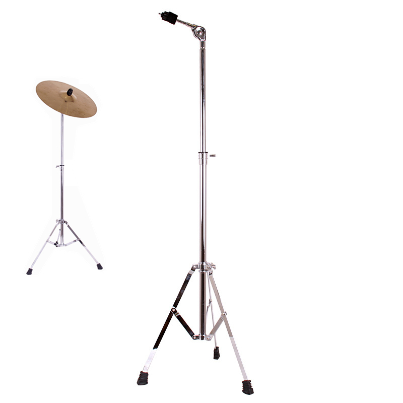 Full Metal Adjustment Foldable Floor Cymbal Triangle-bracket Stand Holder Jazz Drum Sets Percussion