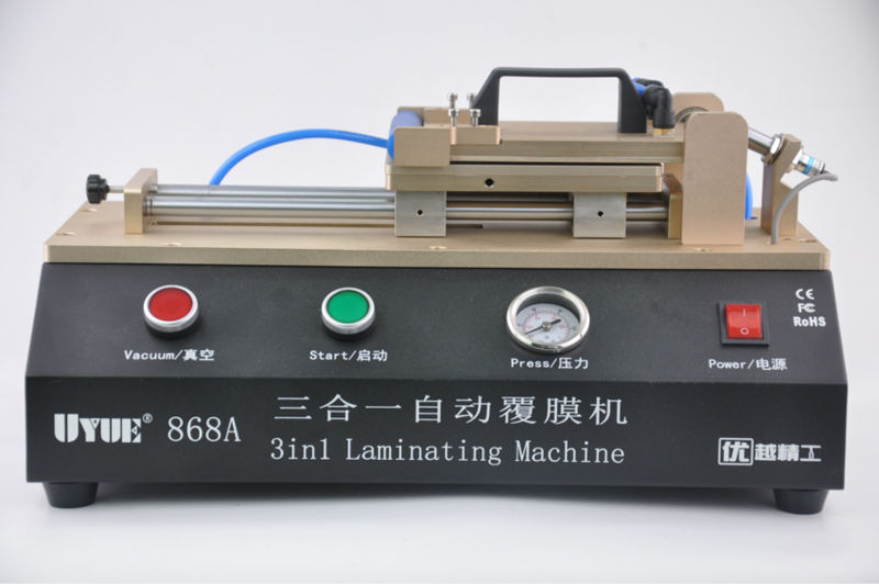 UYUE 868A 3 in 1 Automatic OCA Film Laminating Machine With Built in Vacuum Pump and Air Compressor For LCD Screen Repair