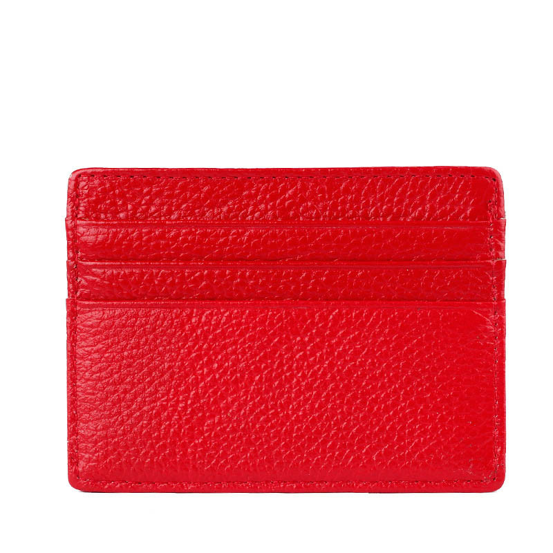 Factory outlet wholesale Men & Women leather card holder fashion mini thin wallet credit card travel case carteira