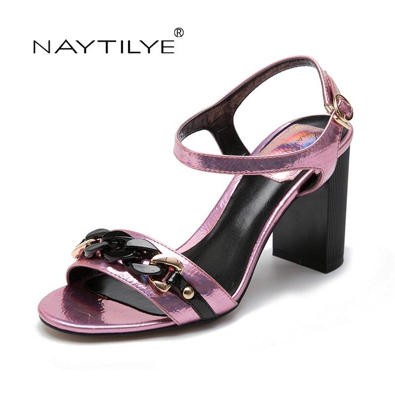 NAYTILYE Sommer Sandalen Bling Strass Frauen Sandalen High heels Mode Komfortable Schuhe Frau Freies verschiffen