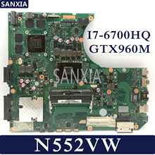 KEFU N552VW Laptop motherboard for ASUS VivoBook Pro N552VW N552VX original mainboard 100 Test HM170 I7