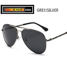Men Sunglasses Pilot Style with Polarization Lenses Alloy Frame EXIA OPTICAL KD-275 Series