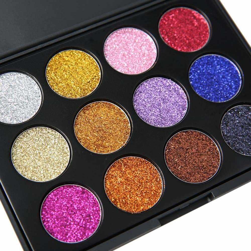 Oogschaduw Diamant Regenboog Make Up Oogschaduw Magneet Palet Cosmetische Glitter Injecties Geperst Glitters Enkele