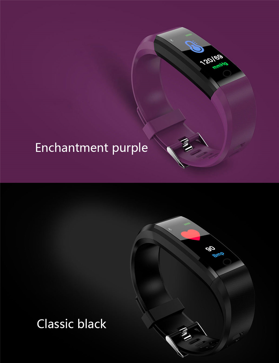 Fitness Tracker bracelet pressure measurement pedometer Smart band Heart rate monitor IP68 Waterproof smartwatch For Android ios xiaomi band 15