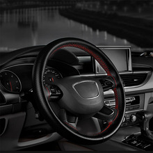 PU Leather Universal Car Steering-wheel Cover New Car-stylin