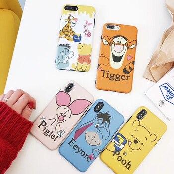 Super cute Minnie mickey Donald Duck Winnie Pooh Tigger Piglet soft silicone phone case for iphone 6 6s 7 8 plus X cover winnie the pooh iphone case