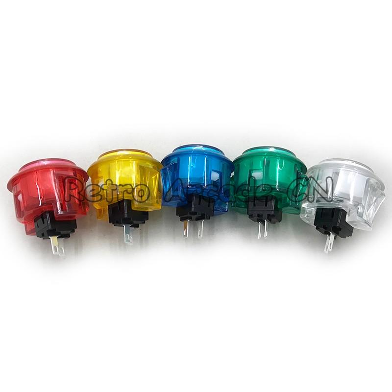 100pcs lot Copy Sanwa 30mm button push button built in switch OBSC 30 Transparent crystal button