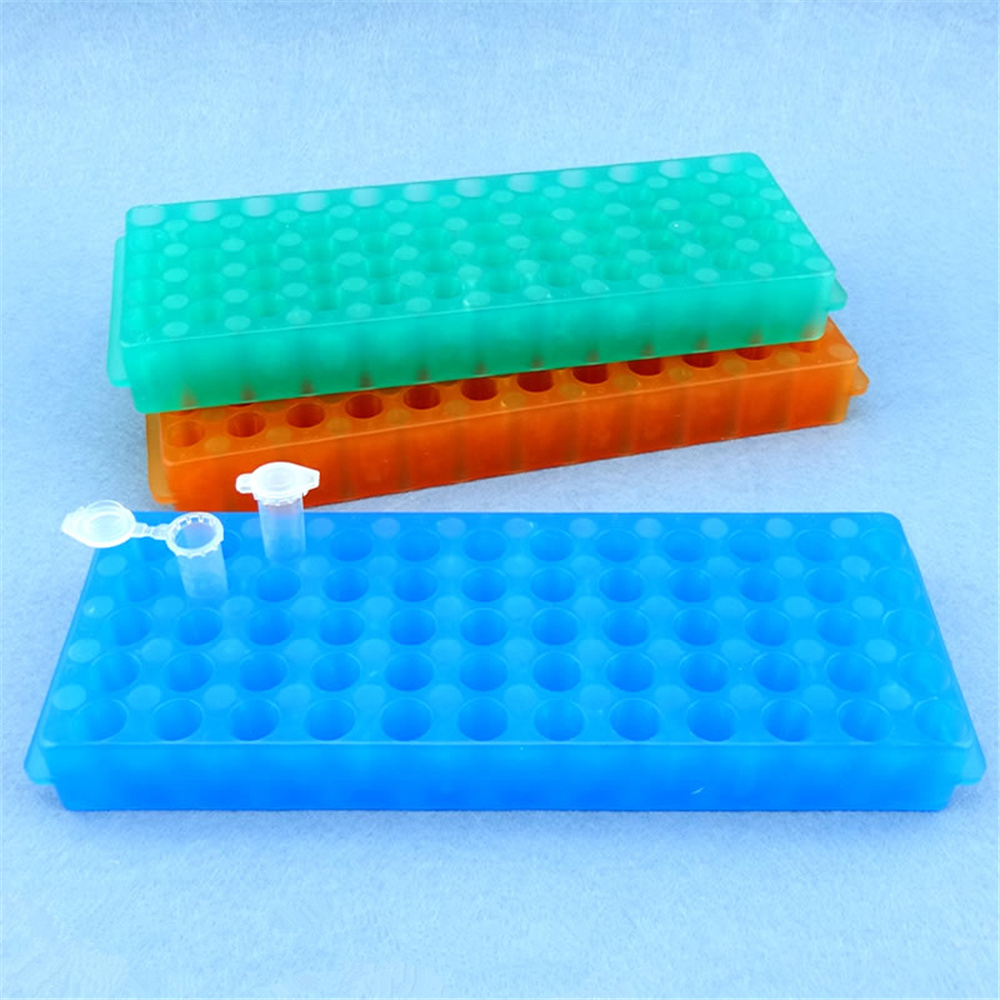 Plastic Rack For Microcentrifuge Tube Holder Stand 2/1.5/0.5ml 60 Positions