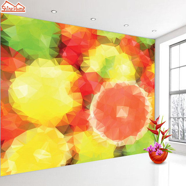 ShineHome Modern Orange Abstract Painting Cool Background Wallpapers ...