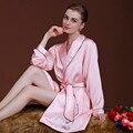 Señoras de dama de Honor Batas Bata de Satén para Las Mujeres Bata de Seda de Imitación Rosa Bata Bata de Baño Femenino Robe Femme SY027 #10
